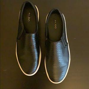 Black Aldo Slip-Ons
